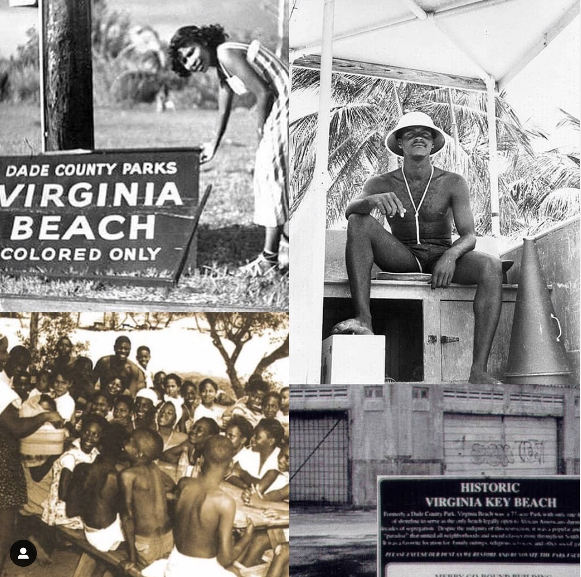 Historic Virginia Key Beach collage
