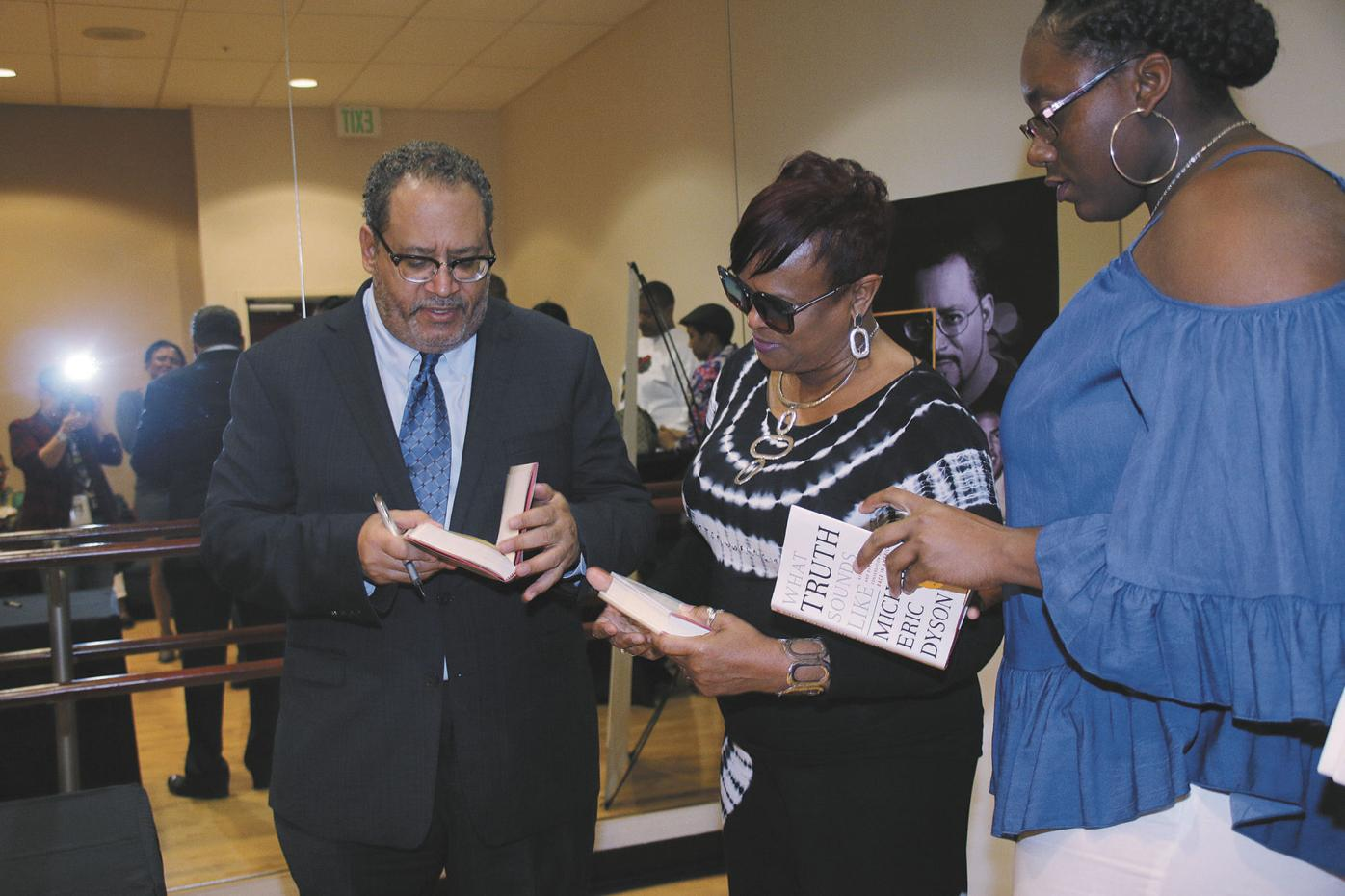 Dozens of South Floridians flocked to the Miramar Cultural Center for a book signing and discussion with author Michael Eric Dyson.