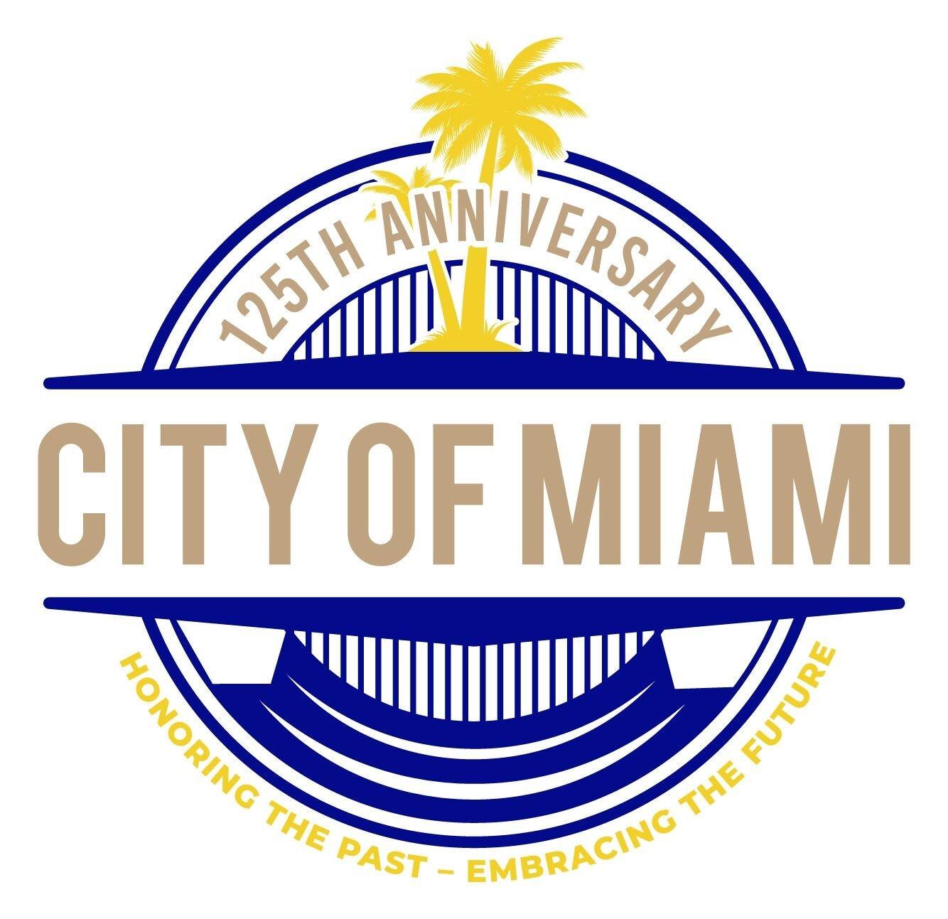 city of miami 125 celebration logo