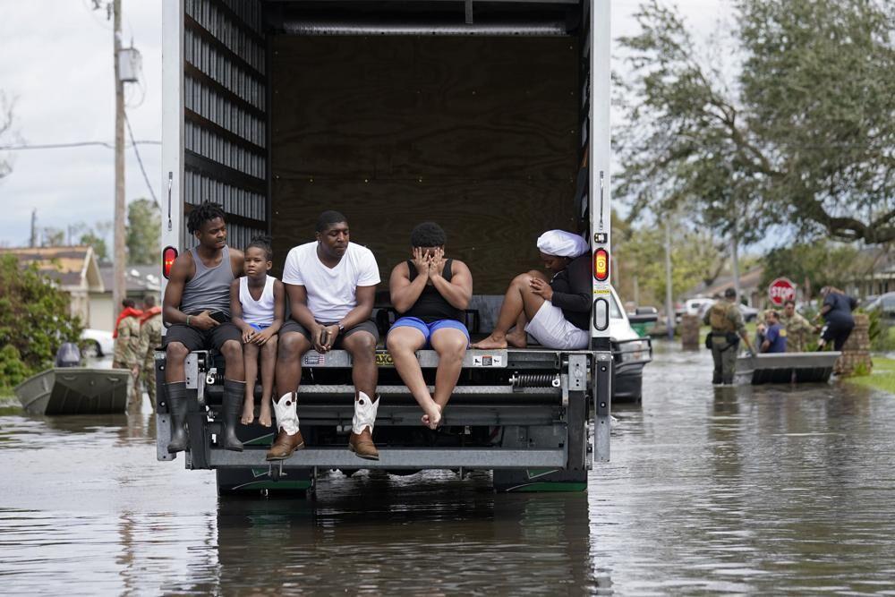 People being evacuated
