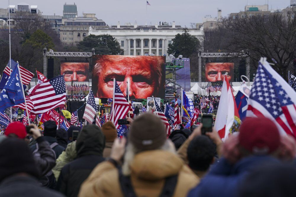 Supporters of President Donald Trump participating in a rally in Washington