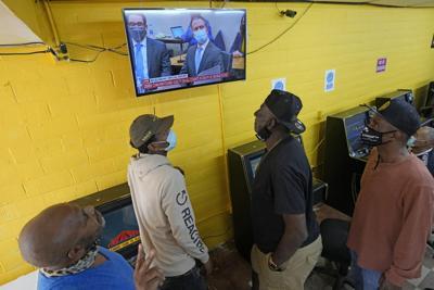men watching