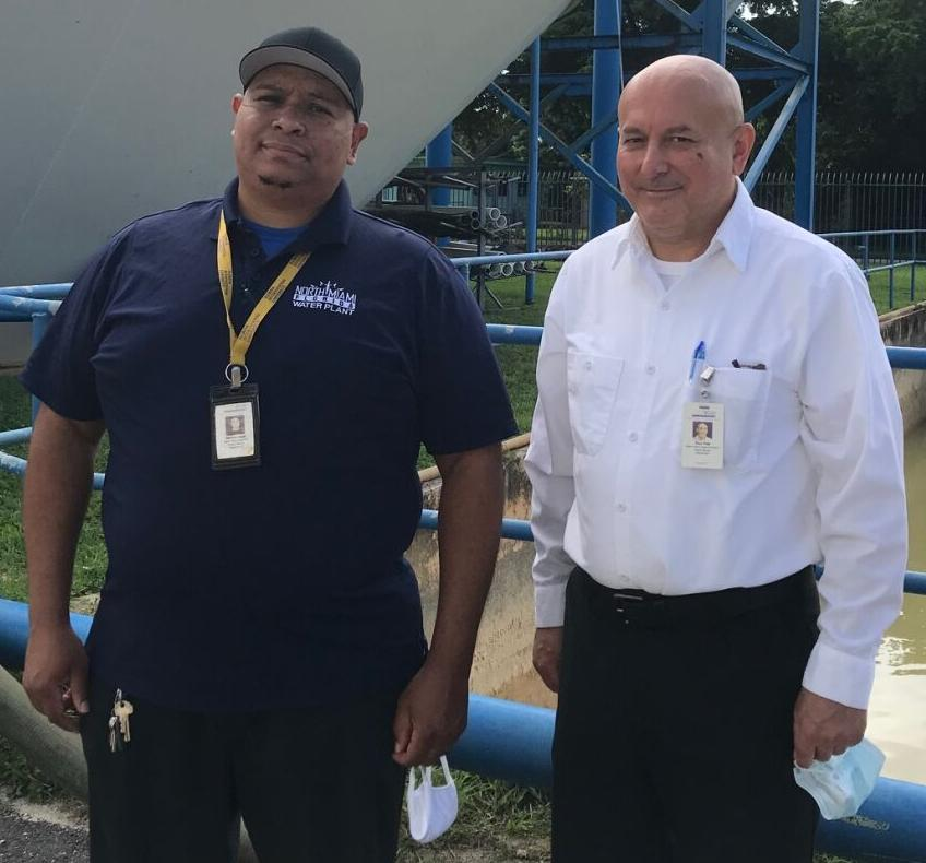 Derron Lloyd and superintendent Pavel Vida