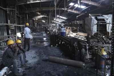 Denim factory fire