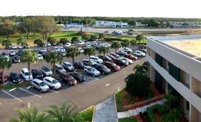 Overhead shot of Parking Lot Prayer on 2020 April 2