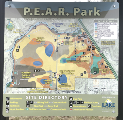 PEAR Park map