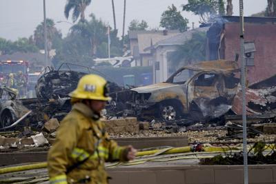 APTOPIX Southern California Plane Crash