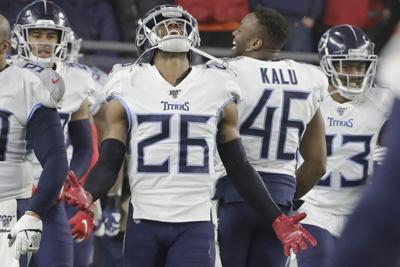 APTOPIX Titans Patriots Football