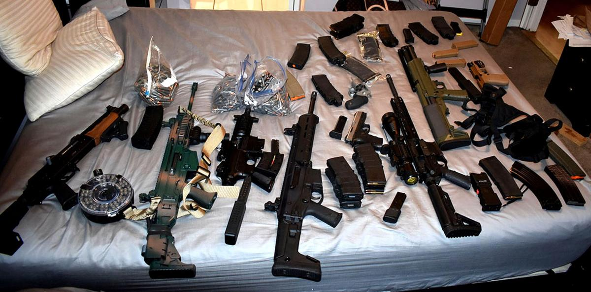 Weapons found with Diaz