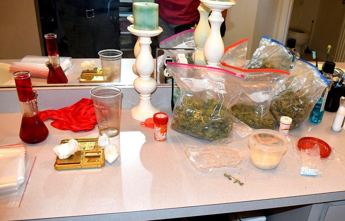 Drugs and paraphernalia found with Diaz