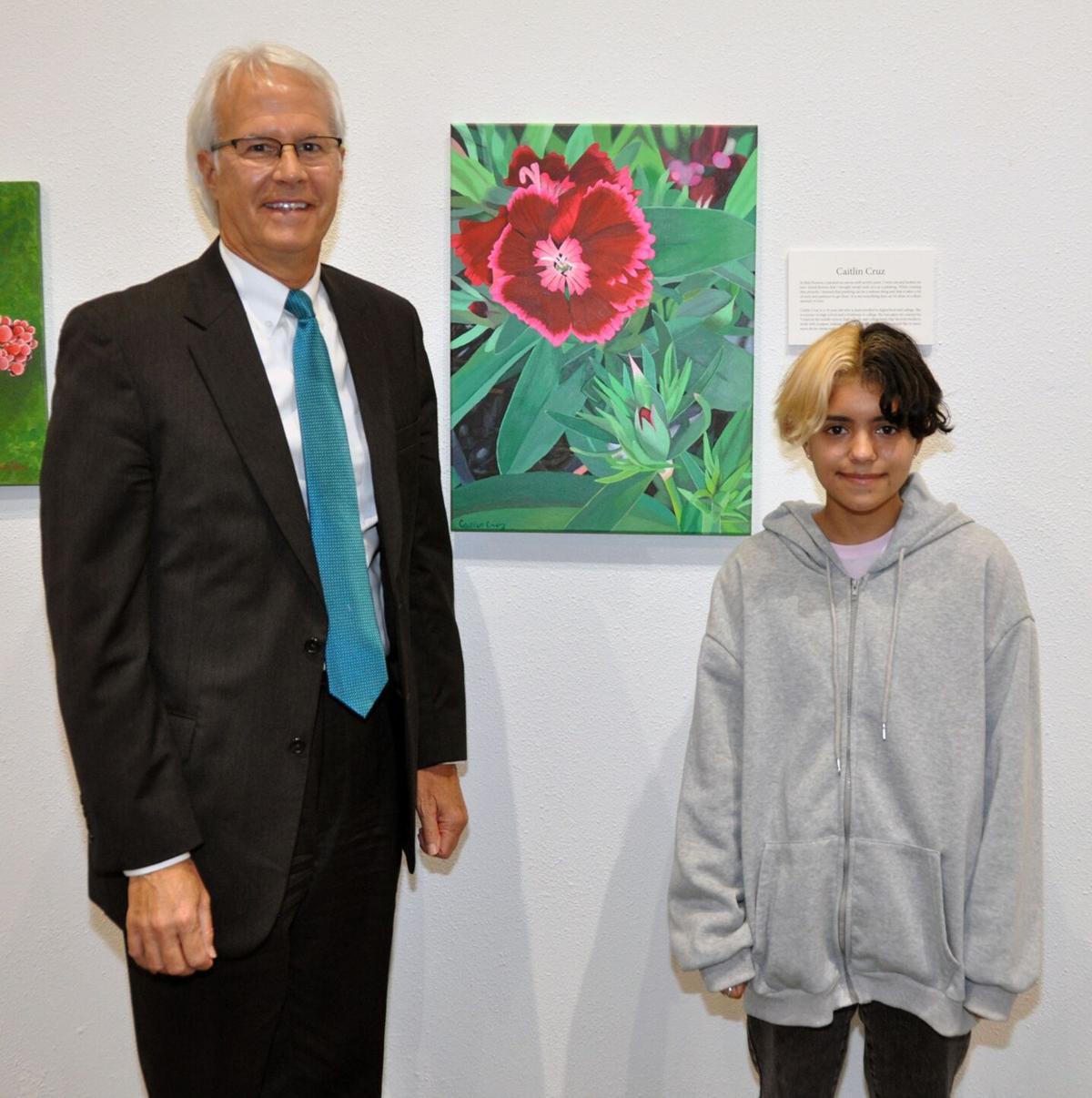 President Leitzel and Caitlin Cruz