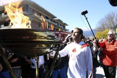 Greece Olympic Flame Relay Tokyo Virus Outbreak