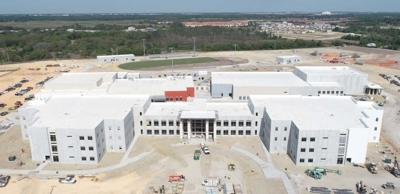 Davenport High aerial construction photo