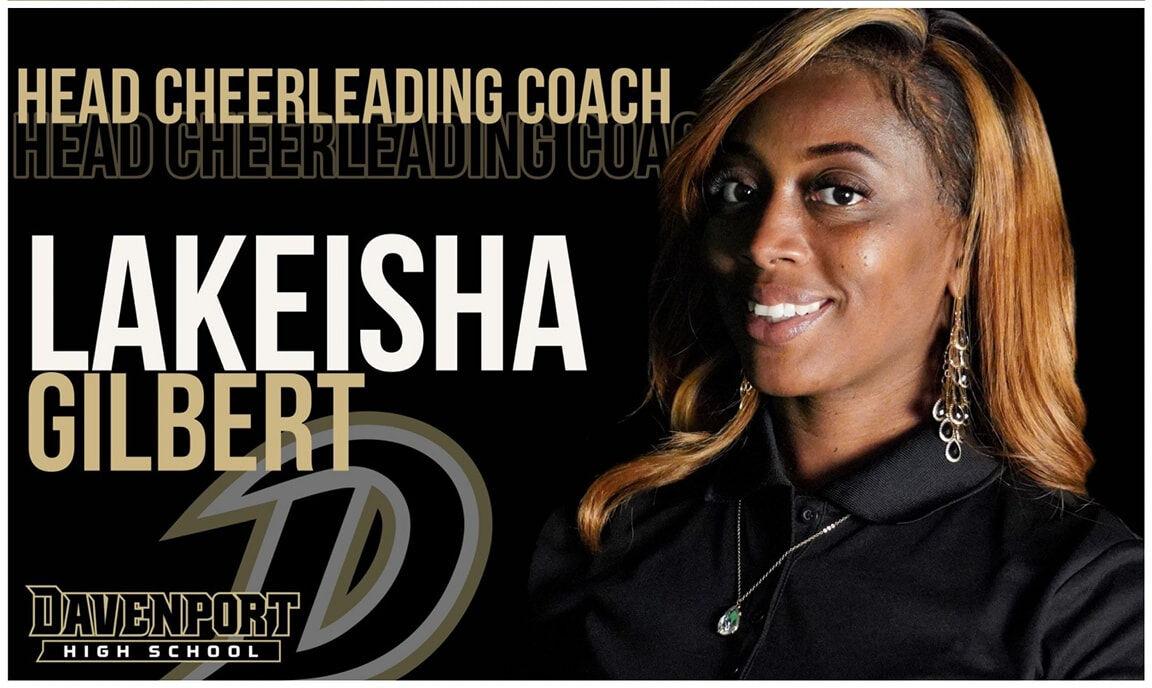 Davenport High cheerleading coach