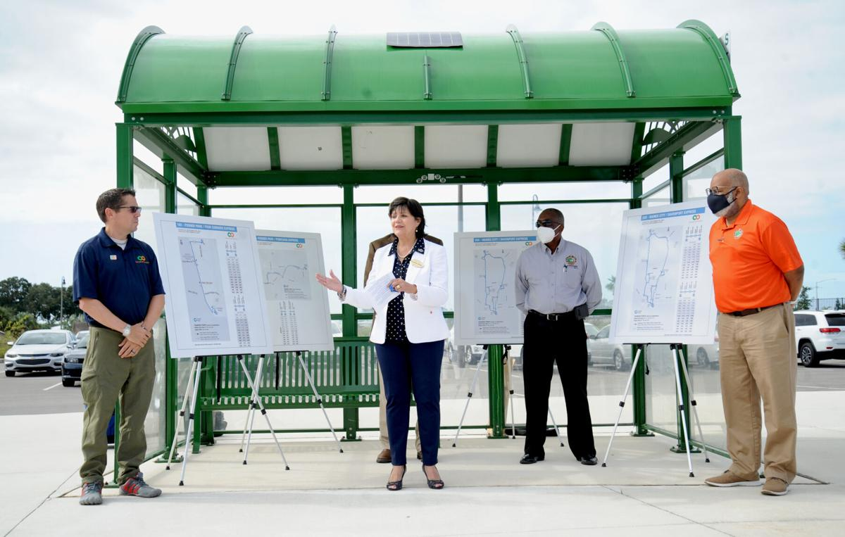 Posner Park-and-Ride ribbon-cutting A