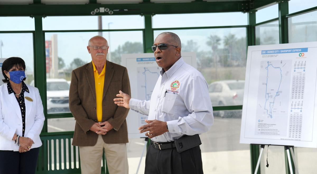 Posner Park-and-Ride ribbon-cutting B