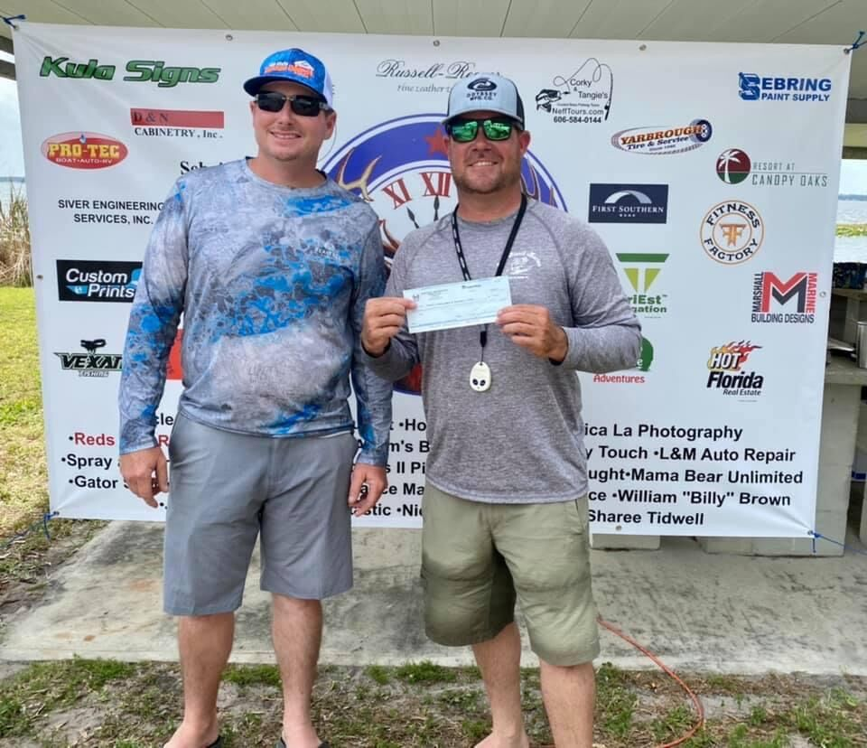 Elks bass club tournament first place winners