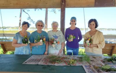 Garden therapy at Meadowlake gazebo