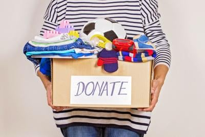 Spring Cleaning donations stock image