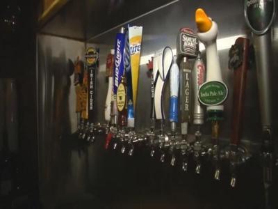 Bars stock image - Beer taps