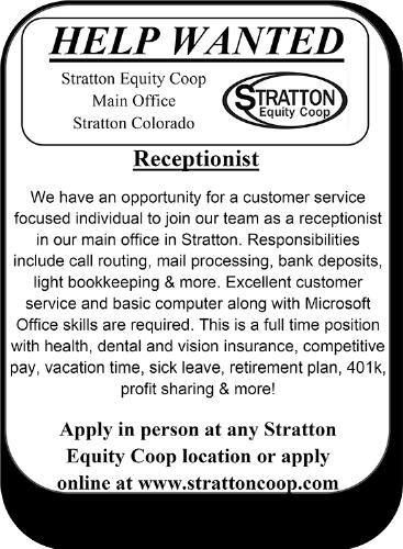 Receptionist - Stratton Equity