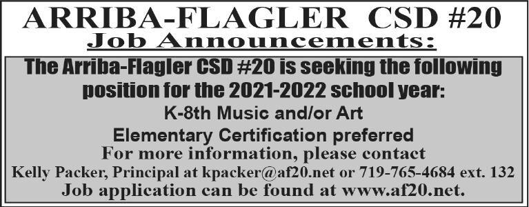 Flagler School Job Announcement