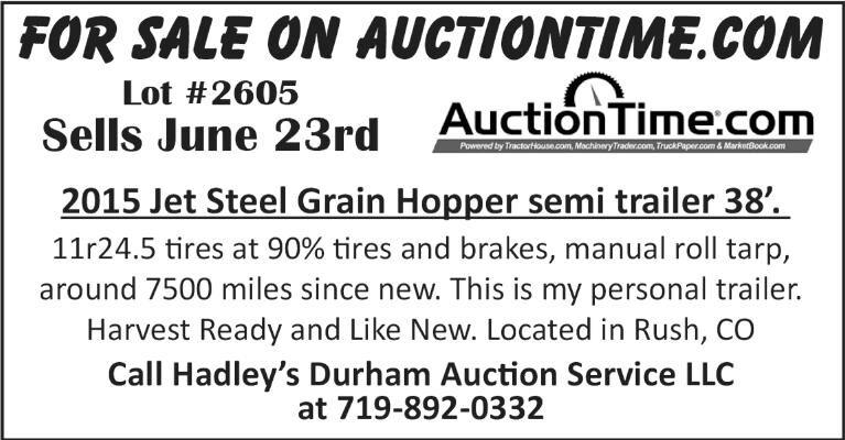 Jet Steel Grain Hopper Trailer For Auction