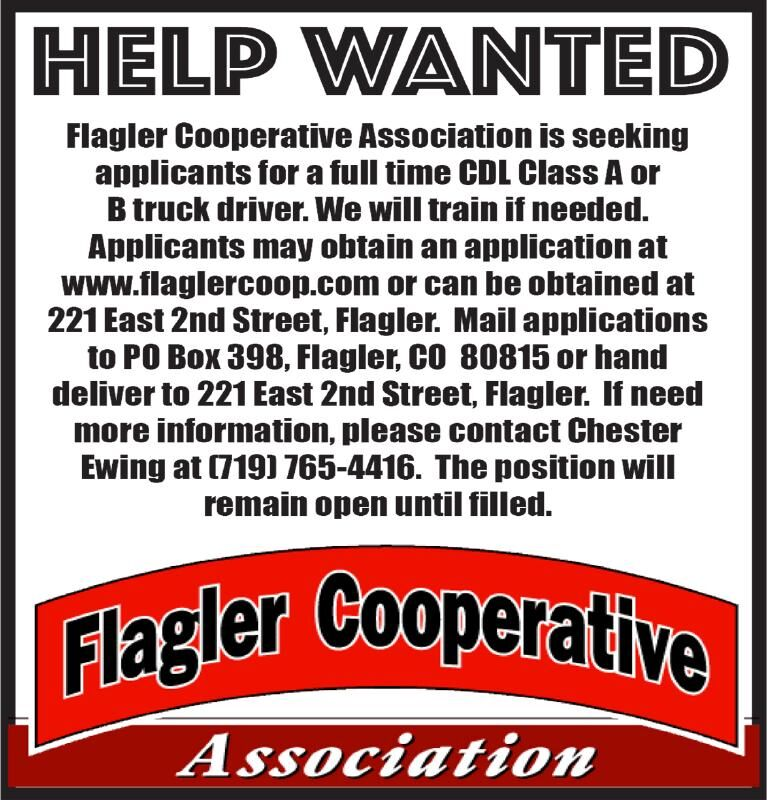 Drivers Wanted - Flagler Coop