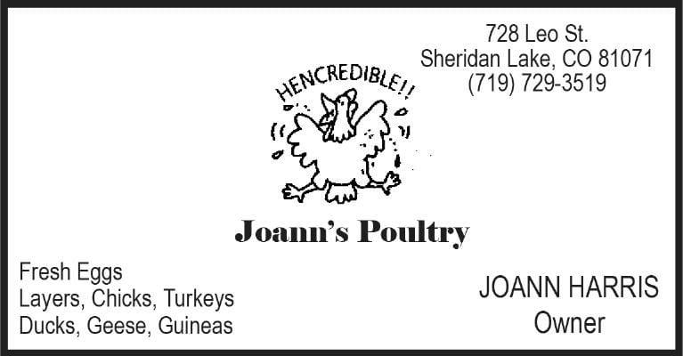 Joann's Poultry
