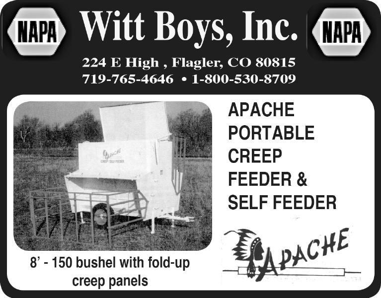 Witt Boys - Apache Creep Feeder