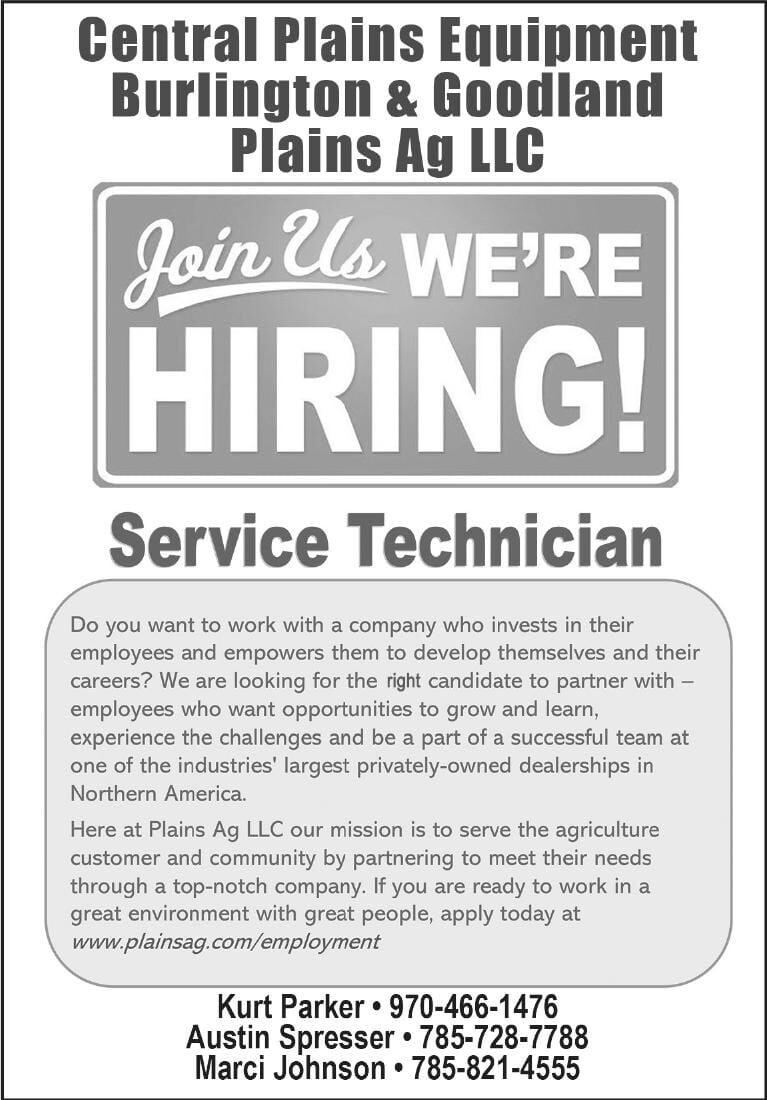 Service Tech Wanted - Central Plains Equipment