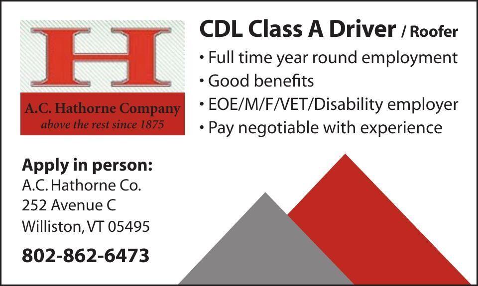 CDL Class A Driver / Roofer
