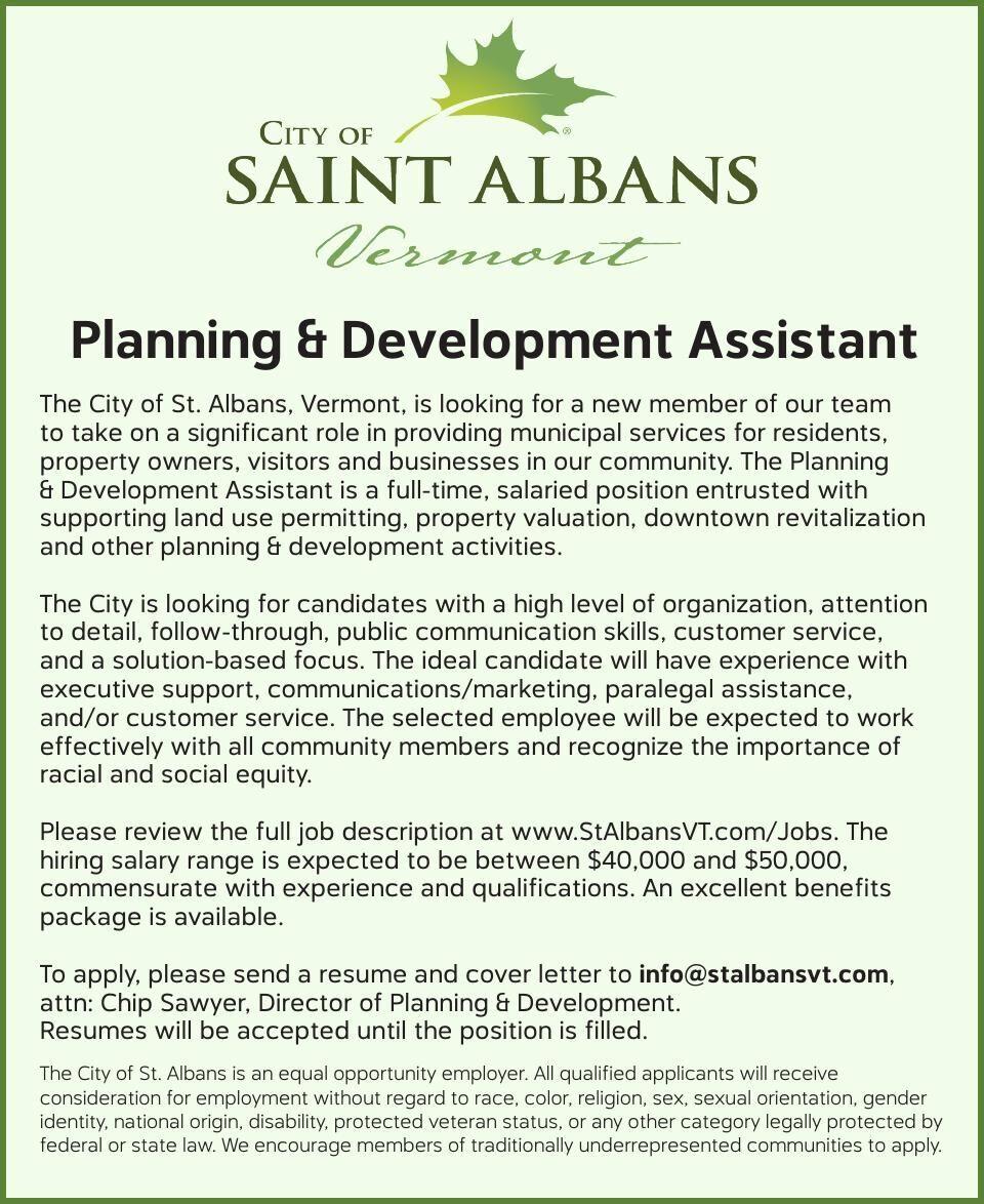 Planning & Development Assistant