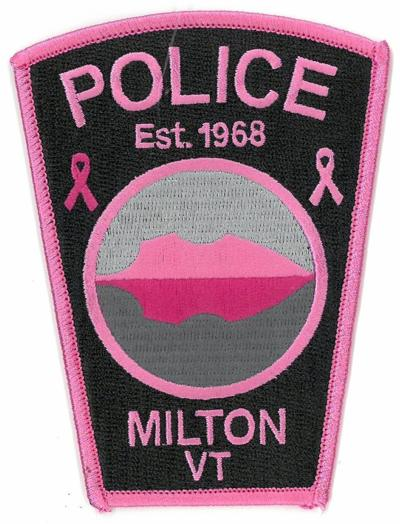 Milton Police breast cancer patch