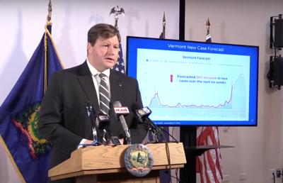 Vermont new case forecast