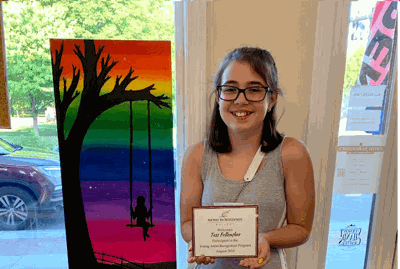 Middle schooler shows art in St Albans gallery