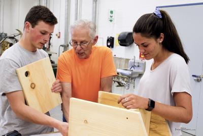 Woodshop students construct bat houses