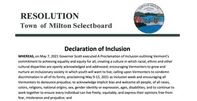 Milton Declaration of Inclusion