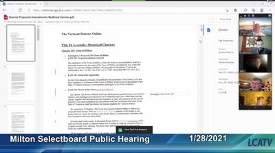 Milton charter public hearing, Jan. 28