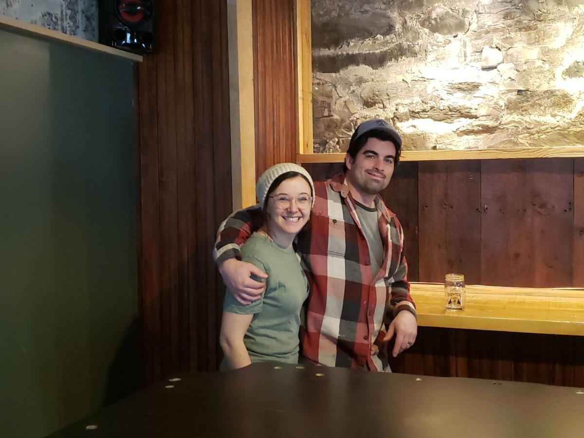 Nick and Lauren Mark at the bar