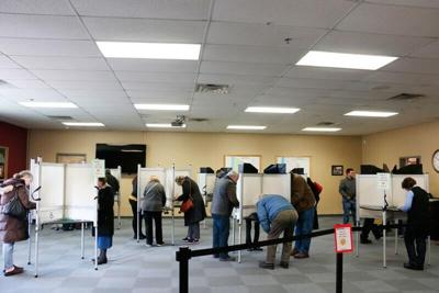 Voters on town meeting day