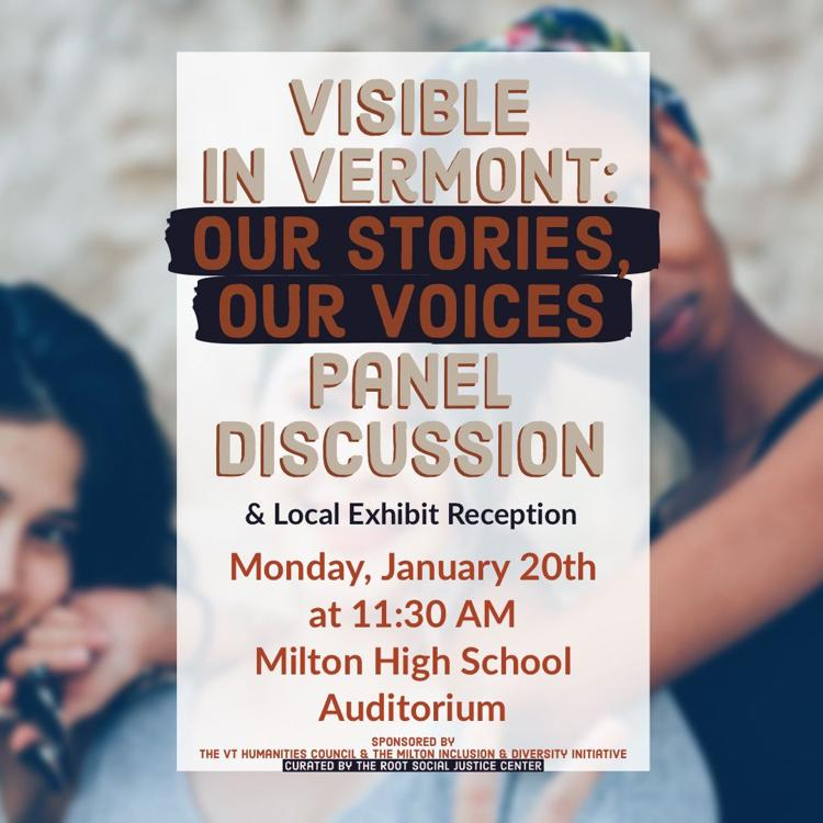 Visible in Vermont Panel Discussion & Local Exhbit Reception Flyer