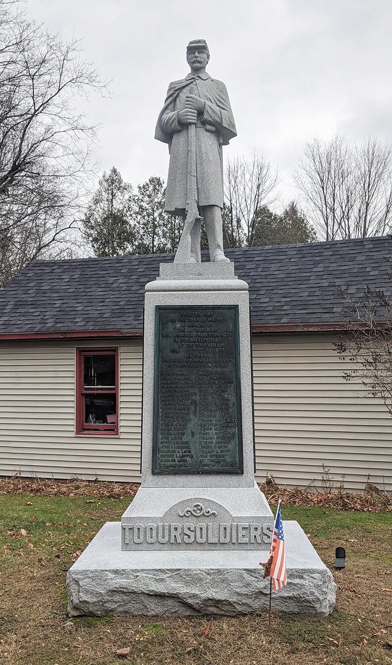 Milton's Civil War Soldiers monument