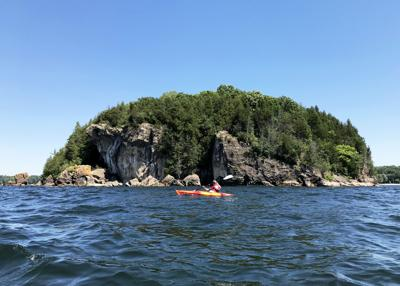 Lake Champlain Kayaker