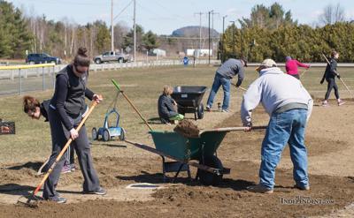 Clean-up crew visits park