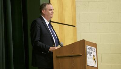 Sec. Dan French at Enosburg Falls, 4-11-2019