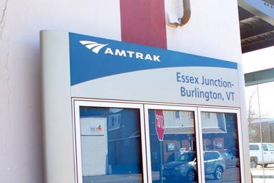 Essex Junction Amtrak sign