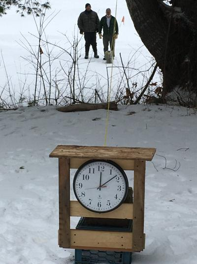 Ice out clock