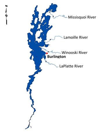 Lake Champlain River Map