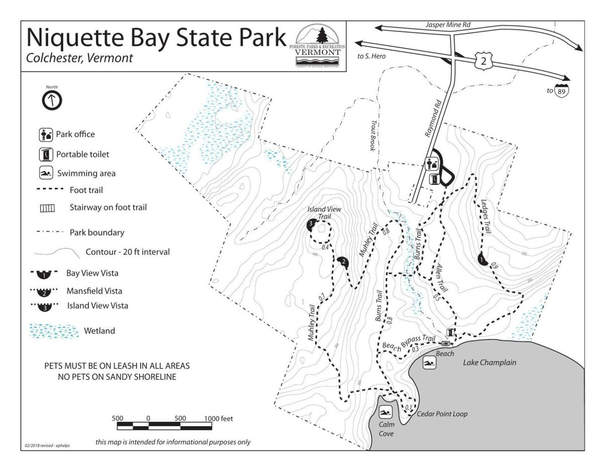 Niquette Bay State Park Trail Map